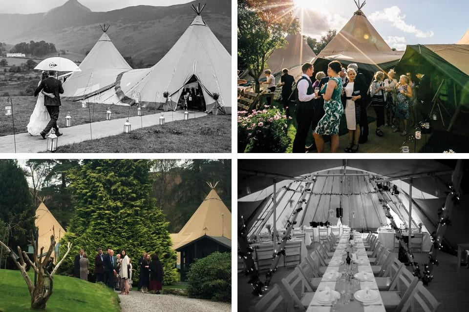 Tipi wedding venue at Brackenrigg in Keswick